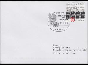 2459 Pariser Verträge, EF Brief SSt Bonn UNO Einweihung des UN-Campus 11.7.2006