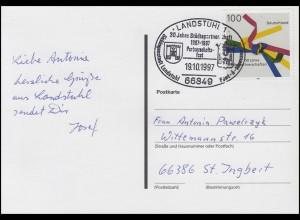 1917 Städtepartnerschaften EF AK Post Rolf SSt Landstuhl Städtewappen 19.10.1997