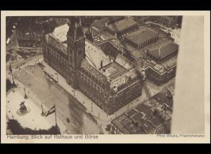 Zeppelin-Luftschiff-PK: Hamburg, Blick auf Rathaus und Börse, ungebraucht