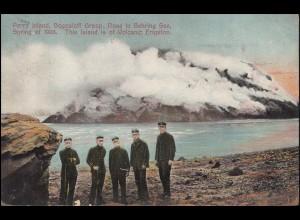 Ansichtskarte Alaska Perry Island Bogosloff Group, NOME / ALASKA 16.6.1910