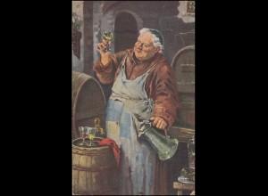Künstlerkarte Theodor Recknagel: Weinprobe, AACHEN 5.11.1920 nach Kaldenkirchen
