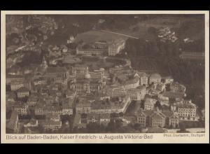 Zeppelin-Luftschiff-PK: Baden-Baden Friedrich- und Viktoria-Bad, ungebraucht
