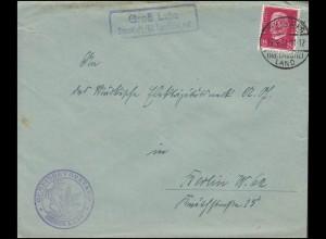 18+31 AM-Post MiF R-Brief Landrat LEER / OSTFRIESLAND 16.3.46 nach Tichelwarf