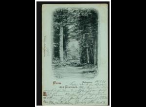 Türkei Postkarte P 16c Wappen 20 Para ALANJA 7.8.1898 nach CLÖTZE/KLÖTZE 17.8.98