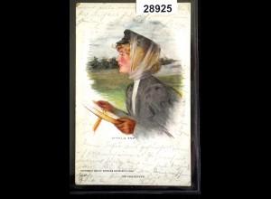 Künstler-AK My Chauffeur Francis Day Frau am Lenkrad, gelaufen 1909