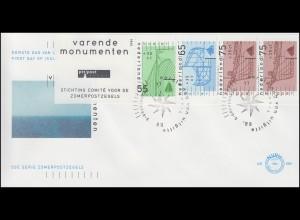 Niederlande Heftchenblatt 40 PB 39 Sommermarken Schiffe, Schmuck-FDC 11.4.89