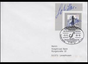 1792 Schillergesellschaft, EF FDC ESSt Marbach Markenpräsentation 5.5.1995