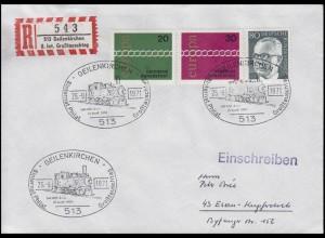 Sonder-R-Zettel 8. Int. Großtauschtag, R-Bf SSt Geilenkirchen Eisenbahn 26.9.71