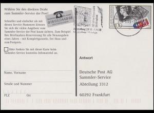 1479 Briefmarken, EF Repro-AK Reichspostamt BZ 80 150 Jahre Briefmarken 1.5.99