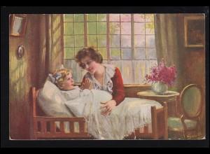 Künstler-Ansichtskarte Smith: Beschütze meine Mutti, gelaufen 1921