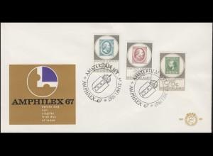Niederlande 880-882 Ausstellung AMPHILEX, Satz auf Schmuck-FDC 21.5.1967