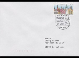 1910 Straubing, EF Brief SSt Straubing Bürgerfest 17.6.1997