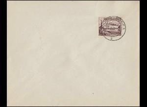 Zusammendrucke auf Orts-Brief BÖBLINGEN 30.8.66 mit K2a HAN und KZ2 Rand