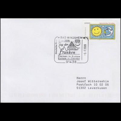 2662 Europa: Der Brief, Bf SSt Bad Windsheim Franken in Europa Museum 5.7.2009