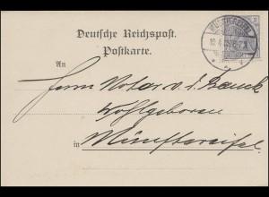 68 Germania 2 Pf. als EF auf Orts-Postkarte MÜNSTEREIFEL 10.4.05