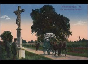Ansichtskarte Weltkrieg 1914/1916: Die gerngesehene Feldpost, 11.10.16