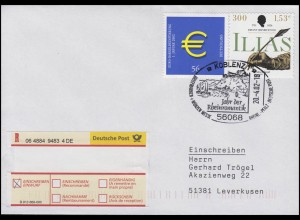 2236 Euroeinführung & 2251 Voß R-Bf SSt Koblenz Jahr der Rheinromantik 20.4.2002