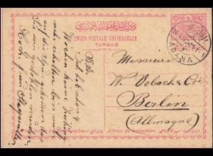 Schleswig-Holstein 9 Ziffer 1 1/4 Schilling EF Bf. BURG 20.2.1862 nach PINNEBERG