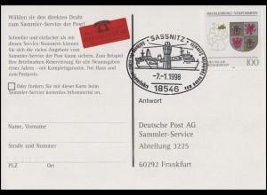 1661 Mecklenburg-Vorpommern AK Reichspostamt SSt Sassnitz Neuer Fährhafen 7.1.98