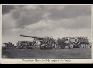 AK Unser Heer: Motorisierte schwere Geschütze während der Parade MURNAU 26.5.39