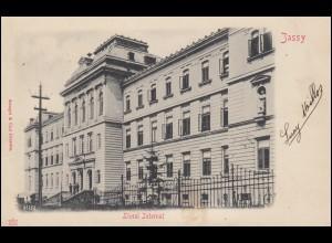 Ansichtskarte Rumänien: Liceul Internat, JASSY 17.6.1902 nach ANVERS 19.7.02