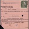 Sächsische Schwärzung AP 794I Hitler 30 Pf auf Postanweisung ANNABERG 19.6.45
