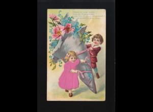 Kinder Füllhorn Blumen, Blümlein im zarten Gewind, Friedrichshafen 22.12.1908