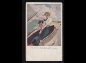 Künstler-Ansichtskarte Des Meeres und der Liebe Wellen, gelaufen 1921