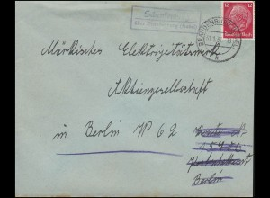 Block 4 Das Braune Band 1936 - Briefausschnitt Ersttagsstempel OLDENBURG 22.6.36