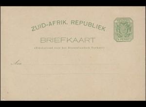 Südafrika ZUID-AFRIK. REPUBLIEK BRIEFKAART 1/2 Penny Wappen grün, ungebraucht **