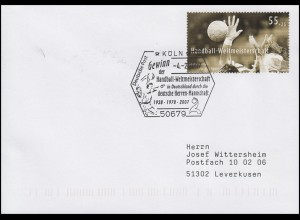 2578 Handball-WM, EF Bf SSt Köln Deutschland - Gewinn der Handball-WM 4.2.2007