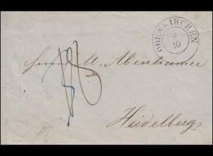 Preußen Vorphilatelie Rechnung Gebrüder Trappen Zweikreis ODENKRCHEN 5.10.1850