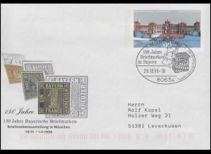 Plusbrief USo 11 Bayerische Briefmarken, SSt München Briefkasten 29.10.99