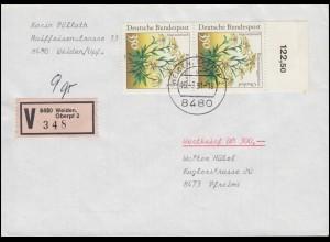 Norddeutscher Postbezirk 4 Ziffer Paar Brief EUSKIRCHEN 22.6.1868 n. CÖLN 23.6.