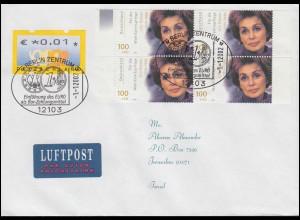 Absenderfreistempel Landesregierung NRW Innenminister, Brief Düsseldorf 6.8.54