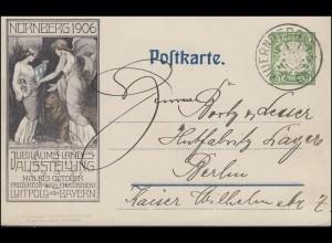 Bayern PP 15 Jubiläums-Landes-Ausstellung 1906, NÜRNBERG 15.12.1905 nach Berlin