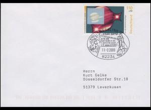 2080+2081 Kosmos & Stern, Bf SSt Wessling Raumflug Deutscher Astronaut 11.2.2000