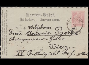 Germania 5 Pf. EF Postkarte ANTWEILER BZ. CÖLN 31.12.06 nach Münstereifel