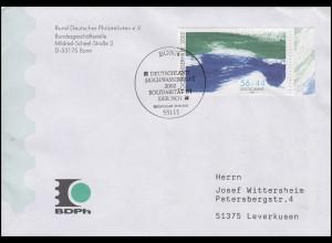 2278AI Hochwasserhilfe, EF FDC ESSt Bonn Solidarität in der Not 30.8.2002
