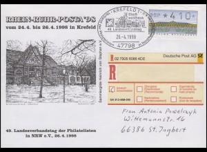 RHEIN-RUHR-POSTA'98 & LV-Tagung, EF R-Bf SSt Krefeld Stadtwaldhaus 24.4.1998
