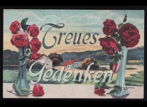 Frankreich Postkarte 10 C. Säerin von AUBREVILLE MEUSE 26.8.1909 nach Vogelsang