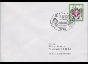 1903 Kölner Karneval, EF Brief SSt Köln 175. Jahrfeier & Festkomitee 5.2.1997