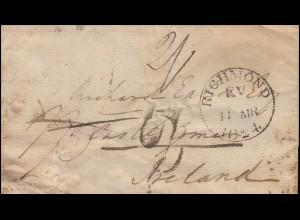 Großbritannien Vorphilatelie Brief aus RICHMOND 11.3.1824 nach Irland