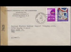 Zensurpost 7623 Dominikanische Republik Bf. Ciudad Trujillo 20.7.1944 in die USA