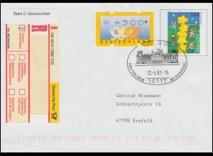 Dienst 6 Aufdruck 25 C. als EF auf Brief vom Bürgermeisteramt DUDWEILER 21.6.24