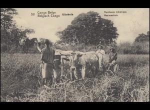 Belgisch Kongo AK Kitobola / Ernte-Maschine, Ort-PK ELISABETHVILLE 11.6.1913