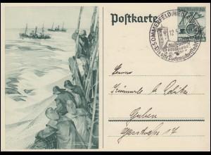 Sonderpostkarte P 266 WHW Hochseefischerei SSt SOMMERFELD/NIEDRLAUSITZ 12.5.38