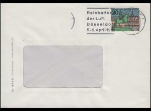 423 Düsseldorf, EF Brief Werbestempel Reinhaltung der Luft Düsseldorf April 1965