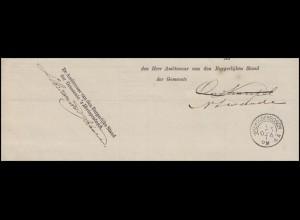 Niederlande Vorphilatelie Wohnsitzänderung Vordruck s'HERTOGENBOSCH 1.10.1874