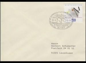 2148 Tag der Briefmarke, Bf SSt Garmisch-Partenkirchen Philatelistentag 30.6.02